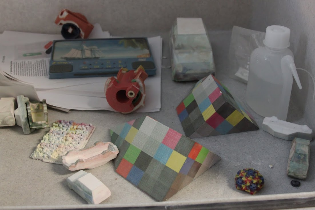 Photo of 3-D printouts